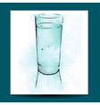 watercolor glass vector image vector image