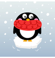 winter penguin vector image vector image