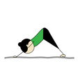 woman practicing yoga dog pose vector image vector image