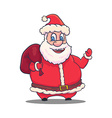 Cartoon Santa Claus Character on White Background vector image