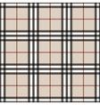 Tartan seamless pattern beige vector image