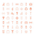 49 suit icons vector image vector image