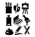 art icon vector image vector image