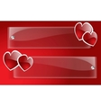 banner day valentine vector image vector image