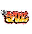 big sale graffiti lettering vector image vector image