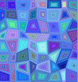 Blue colorful rectangle mosaic background vector image vector image