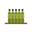 bottles of olive oil flat style vector image vector image