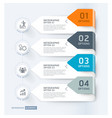 business infographic elements template vector image
