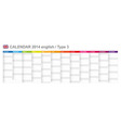 Calendar 2014 english type 3 vector | Price: 1 Credit (USD $1)