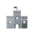 castle logo design vector image vector image