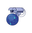 cctv camera with sphere browser vector image vector image