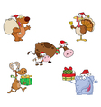 Christmas Animals-Collection vector image vector image