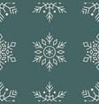 christmas new year seamless pattern snowflakes vector image vector image
