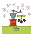 colorful poster of coffee brake with coffee vector image