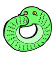 comic cartoon snake eating own tail vector image