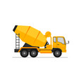concrete truck icon mixer cement truck side view vector image