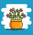 cute beautiful house plants cartoons vector image vector image