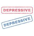 depressive textile stamps vector image vector image