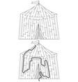 easy circus maze vector image vector image