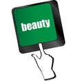 enter keyboard key button with beauty word on it vector image
