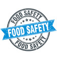 food safety round grunge ribbon stamp vector image vector image