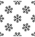 greysnowflake icon isolated seamless pattern on vector image
