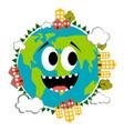 happy earth emote earth day vector image vector image