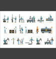 happy people working in oil industry set of vector image vector image