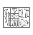 human toy construction set sketch vector image vector image