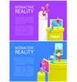 interactive reality gadgets vector image vector image