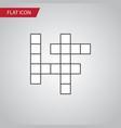isolated crossword flat icon guess element vector image vector image