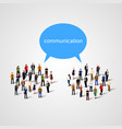 large group of people with talking bubble vector image vector image