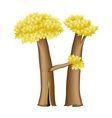 Letter in the form of tree vector image vector image