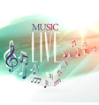 live music design poster with notes wave vector image vector image