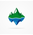 logo of the mountain and iceberg vector image