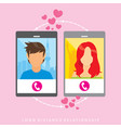 long distance relationship - poster vector image vector image
