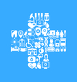 medical icons made in form cross vector image
