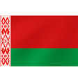 national flag belarus for sports competition vector image vector image