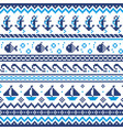 nautical scottish fair isle style traditional knit vector image