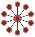 network concept circles single icon vector image vector image