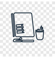 planning concept linear icon isolated on vector image vector image
