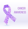 Purple ribbon - cancer awareness symbol vector image vector image