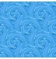 Seamless blue waves texture vector image vector image