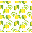 seamless pattern with lemons on branches vector image vector image