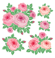 Set of roses vector image vector image