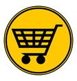 Shopping cart button vector image
