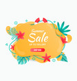 summer banner template summer abstract background vector image vector image