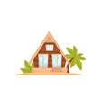 summer beach house tropical bungalow vector image vector image
