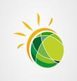 Sun earth logo icon vector image vector image