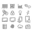 technology and business outline icons vector image